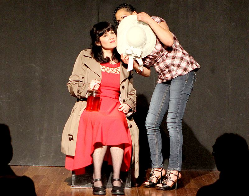 by: COURTESY OF RANDI WIGGINTON - Stacey Hallal, left, performed as Ruby Rocket Private Eye in March and April at Portlands Curious Comedy Theater. The nonprofit theater group leans heavily on improv during its performances.