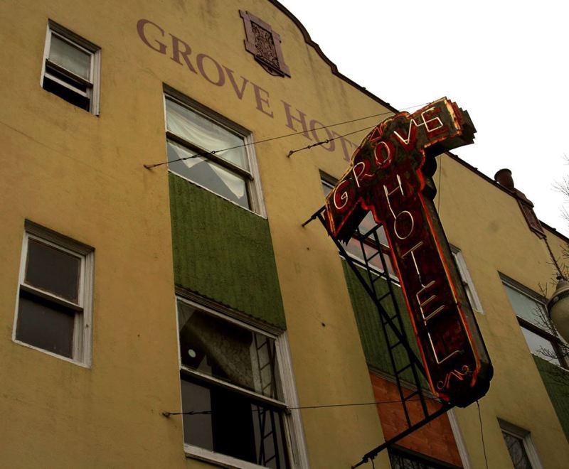 by: TRIBUNE FILE PHOTO: L.E. BASKOW - A plan to turn Old Town's Grove Hotel into a hostel with a first-floor restaurant fell apart last week when developer David Gold let a memorandum of understanding with PDC expire.