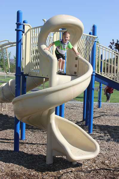 Juniper Hills Park has a large play structure.