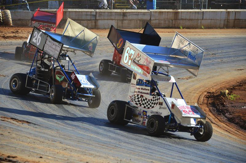 by: JOHN BREWINGTON - Josh Pinkowski of Vancouver leads the way in the Pacific Mini-Sprint Division at River City Speedway on Saturday night. Racing resumed and the points are tight in several of the seven divisions. The racers are back at it this Saturday night at the Columbia County Fairgrounds facility in St. Helens.