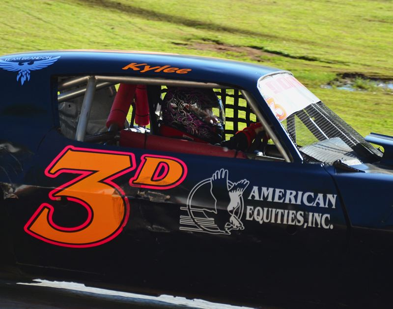 by: JOHN BREWINGTON - Kylee Dorie is leading the pack in the Tracer Division for young racers at River City Speedway.