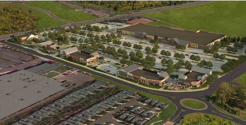 by: COURTESY OF GRAMOR DEVELOPMENT - Grading work on the proposed shopping complex, which includes a Walmart store, is expected to begin soon.