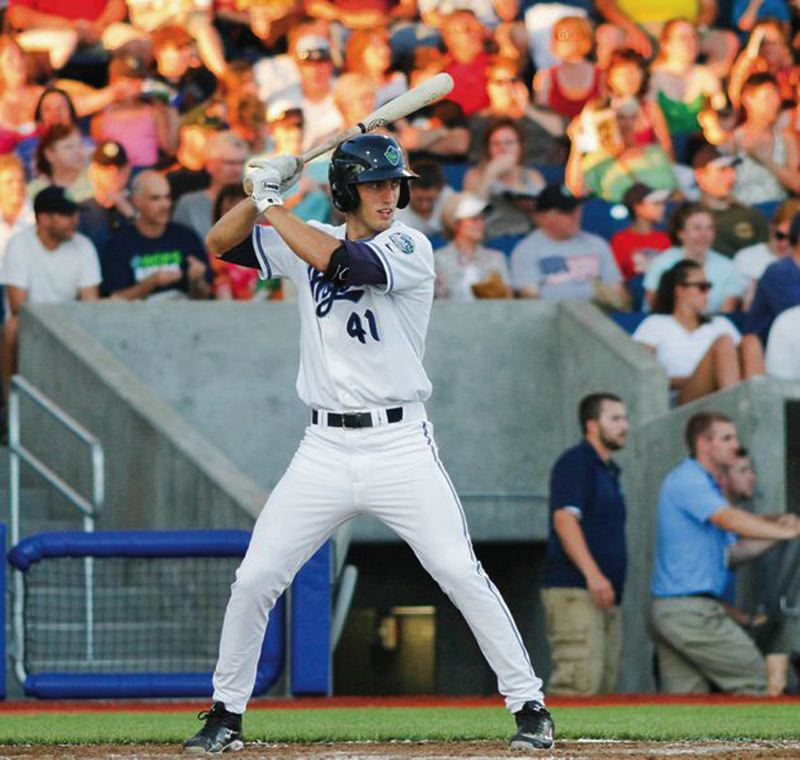 by: PAMPLIN MEDIA GROUP: CHASE ALLGOOD - Zachary Esquerra, an outfielder from California Baptist, is leading the Hillsboro Hops in several offensive categories.