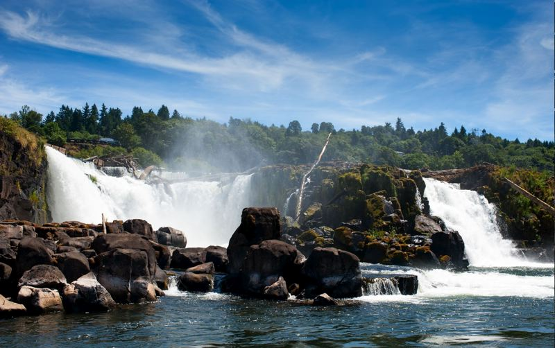 by: PHOTO BY: NICK FOCHTMAN - The 23-acre former Blue Heron Paper Co. property below Willamette Falls is beautiful year-round, so state lawmakers on July 8 set aside $5 millon for the site.