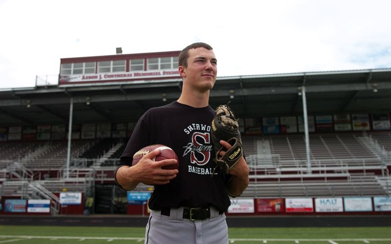 by: DAN BROOD - CHAMPION -- Joseph Balfour, a 2013 Sherwood High School graduate, played for two state champions Bowmen football teams and two title-winning baseball squads.