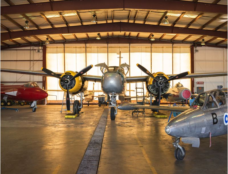 by: HILLSBORO TRIBUNE PHOTO: CHASE ALLGOOD - This restored Douglas A-26C Invader and most of the Classic Aviation Aircraft Museums collection will be brought out of storage and displayed during the 2013 Oregon International Airshow.