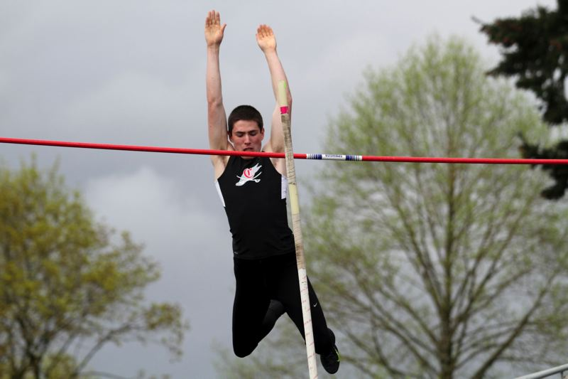 by: JONATHAN HOUSE - Connor McLean set a new Clackamas High School school record at the recent USATF Junior Olympics Regional Championship Meet, clearing 15-5 to win the pole vault in the 17- and 18-year-old division.