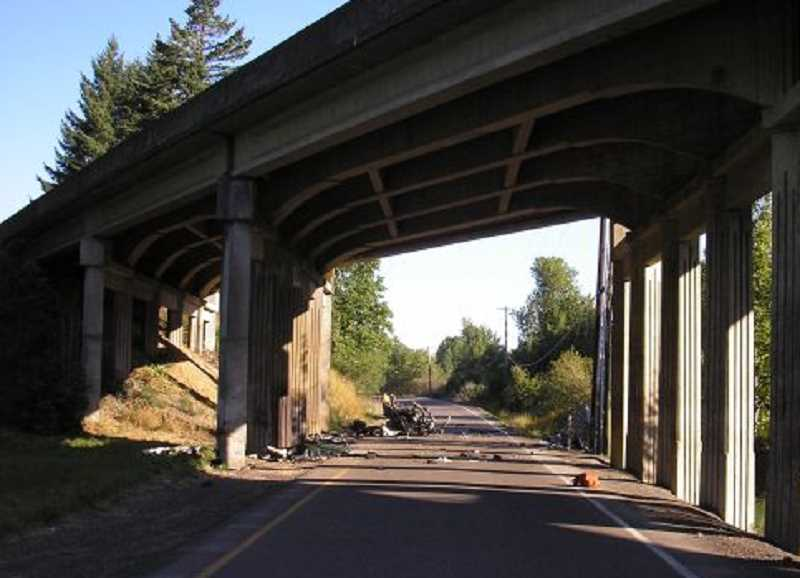 by: OREGON STATE POLICE  - Rodger Michael Hepburn was killed when his car struck a bridge pillar at a high rate of speed Sunday morning.