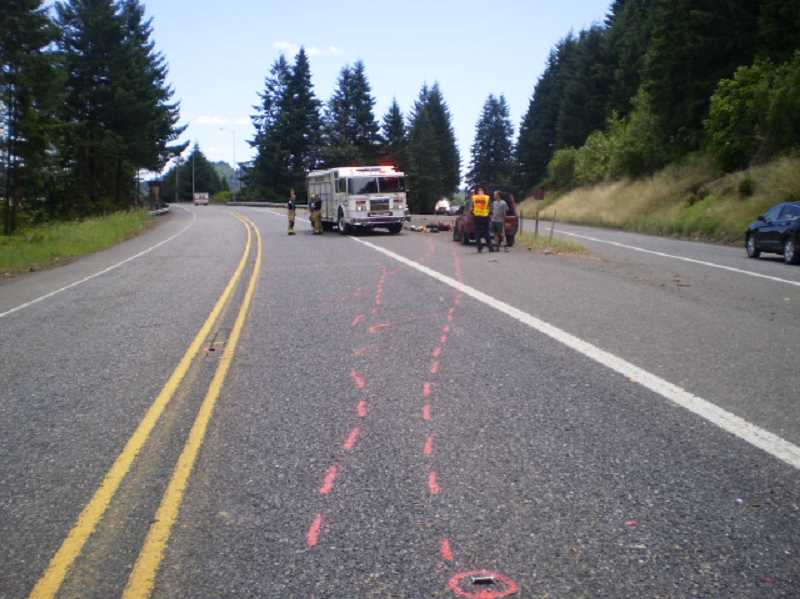 by: OREGON STATE POLICE - A Wilsonville man was seriously injured in a motorcycle accident Thursday morning.