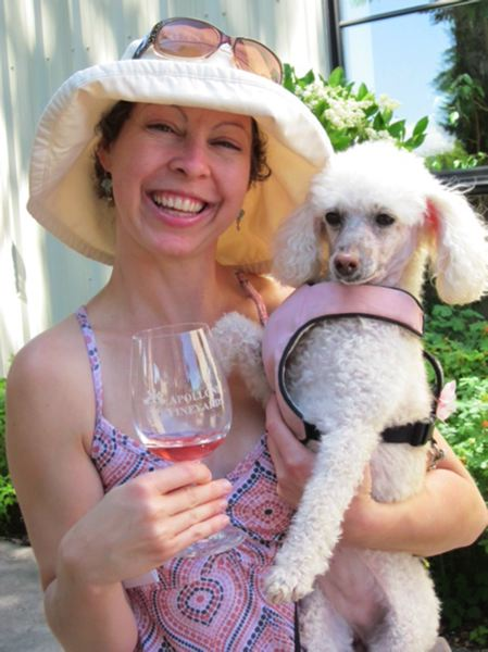 by: COURTESY PHOTOS: LAURINE APOLLONI - Dr. Kristin Sulis of Mt. Tabor Veterinary Care brought her beloved poodle DeeDee (who passed away in February) to last years Canines Uncorked event.
