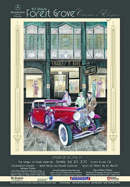 by: COURTESY GRAPHIC - The 2013 Concours d'Elegance promotional poster features Clifford Stranberg's 1931 Duesenberg and the theme 'American Royalty.'