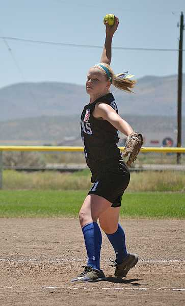 by: PHOTO BY ANNA WILLARD FOR THE PIONEER - Jefferson County pitcher Kira Thomas threw four innings Saturday against Tillamook.