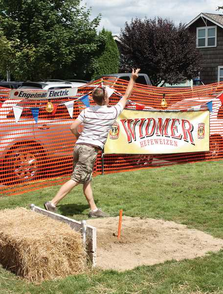 by: WOODBURN INDEPENDENT - The horseshoe tournament at the Hubbard Hop Festival has been around for years and is one of the biggest draws to the event.