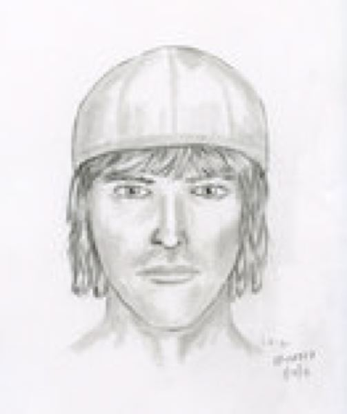 by: PORTLAND POLICE BUREAU - Sketch of suspect who assaulted 70-year-old man.