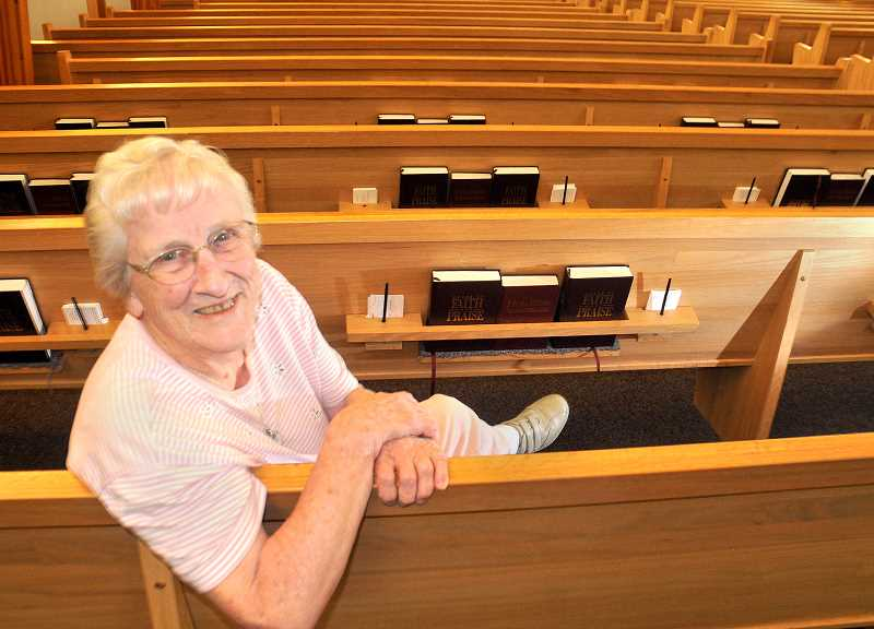 by: GARY ALLEN - Decades of service - After serving for many years as a Sunday school teacher, Fern Johnson is now a church greeter and assists church secretary Norma Cook in whatever ways needed.