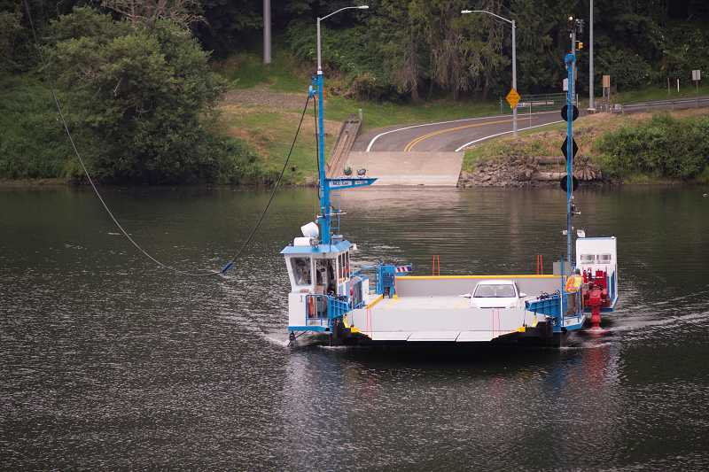 by: RAY HUGHEY - The Canby Ferry was welcomed back to service Friday by its fans and regular passengers.