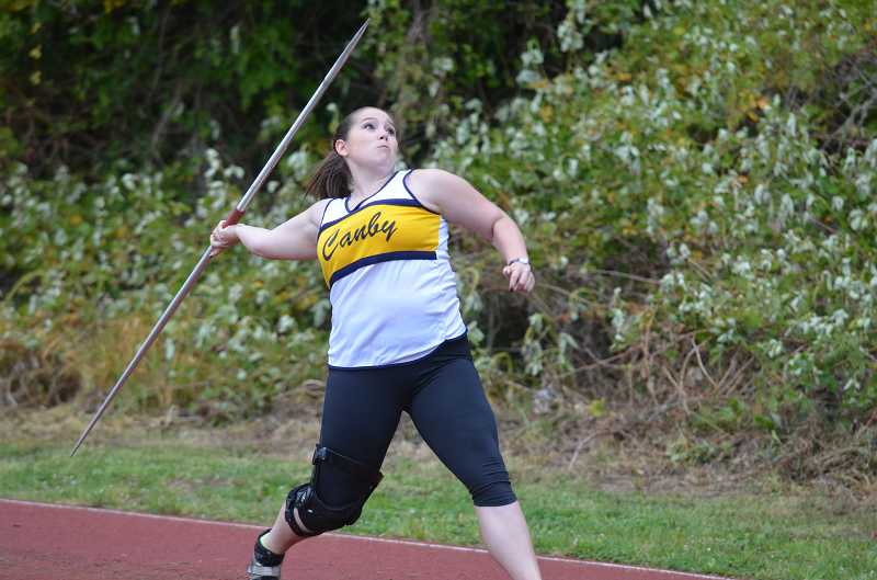 by: JEFF GOODMAN - Liliya Benz's district title in the girls javelin competition was among Canby's athletic accomplishments in 2012-13.