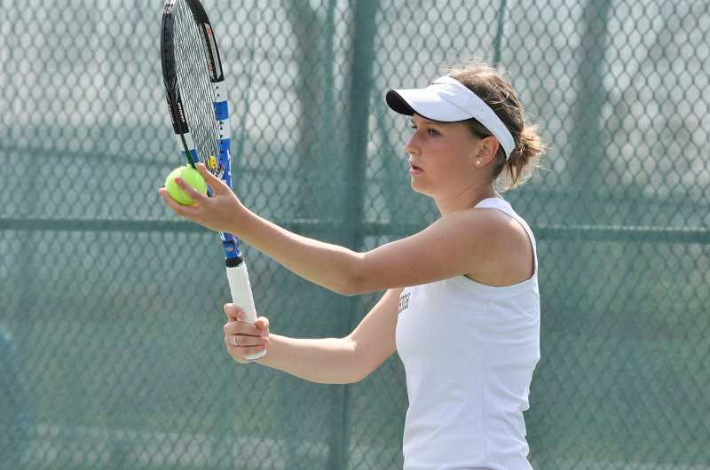by: SUBMITTED PHOTO: LEHIGH ATHLETICS - Abby Farrell, who won a state singles title as a senior at Wilsonville High in 2011, has continued her tennis career at Lehigh University in Bethlehem, Pa.