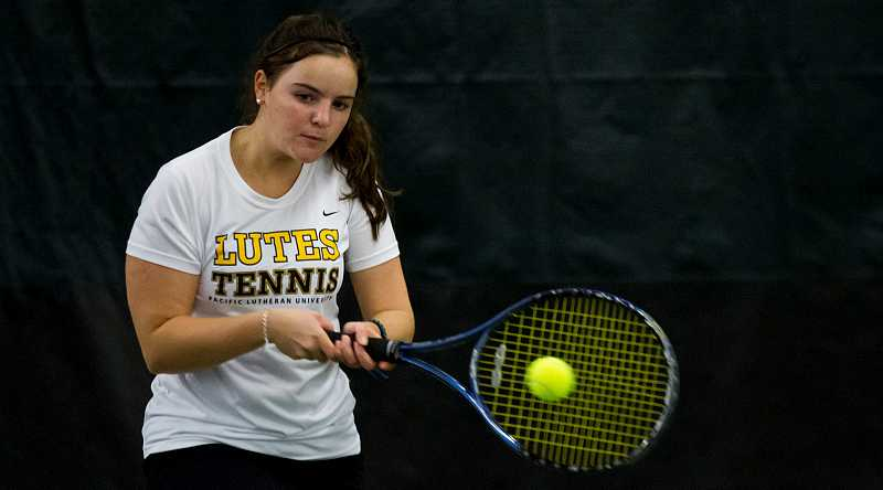 by: PLU ATHLETICS - Wilsonville alumna Catherine Miolla has continued her tennis career at Pacific Lutheran University, where she is studying business administration. She and former Wildcats doubles partner Gretchen Jernstedt faced off in a Division III singles match this past season.