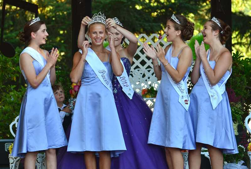by: VERN UYETAKE - A new fair queen, Celia Lawrence, was crowned early Friday.