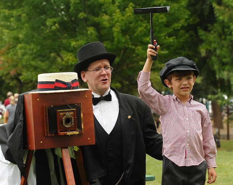by: VERN UYETAKE - Old-time photos were a popular hit during this year's fair.