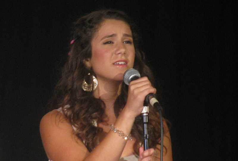by: CAROLYN HOARD - Olivia Klugman from West Linn sings the Dixie Chicks' version of 'Landslide' in round two of the finale at Portland Teen Idol.