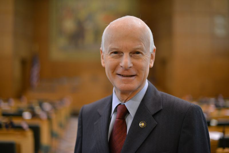 by: RICHARDSON FOR GOVERNOR CAMPAIGN - State Rep. Dennis Richardson is pictured in the Salem Capitol Building toward the end of the legislative session last month.