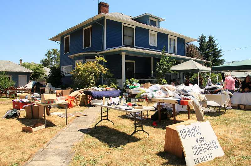by: NEWS-TIMES PHOTO: STEPHANIE HAUGEN - A steady stream of customers stopped by Jenna Harms Forest Grove home last weekend to support the fundraiser rummage sale for her father, Homer Betancourt.