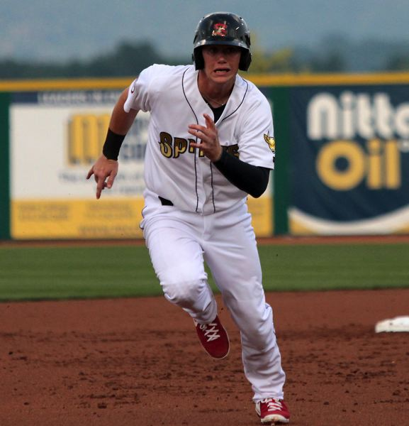 by: COURTESY PHOTO: JOE PUTNAM STATE COLLEGE SPIKES - Carson Kelly said playing baseball for a living has been a lifelong aspiration.