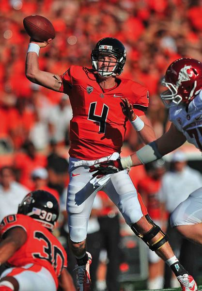 by: TRIBUNE FILE PHOTO: CHRISTOPHER ONSTOTT - Sean Mannion will battle teammates Cody Vaz for the starting quarterback job at Oregon State when football camp begins Aug. 5 in Corvallis.