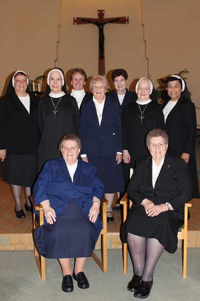 by: SUBMITTED PHOTO - The 2013 Jubilee Class includes, front row: Sr. M. Grace Schonlau (left) and Sr. Janet Slingerland; and back row (from left): Sr. M. Juliana Monti, Sr. Anne Vandecoevering, Sr. Barbara Rose Sohler, Sr. Angeline Sohler, Sr. Rita Rose Stohosky, Sr. Agnes Marie Vandecoevering and Sr. M. Juanita Villarreal.