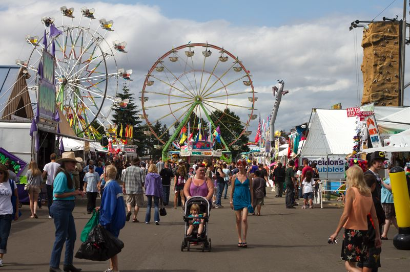 by: PAMPLIN MEDIA GROUP FILE PHOTO - Thousands of people are expected to invade the Washington County Fair Complex in Hillsboro this weekend for the annual county fair. Its competing with the Oregon International Air Show -- which happens Friday through Sunday -- for attendance this year.