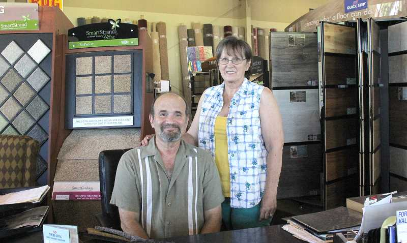 by: LINDSAY KEEFER - Mark and Jaye Shulman have been in the carpeting business for years, but just recently took over Carpet Warehouse in Woodburn.