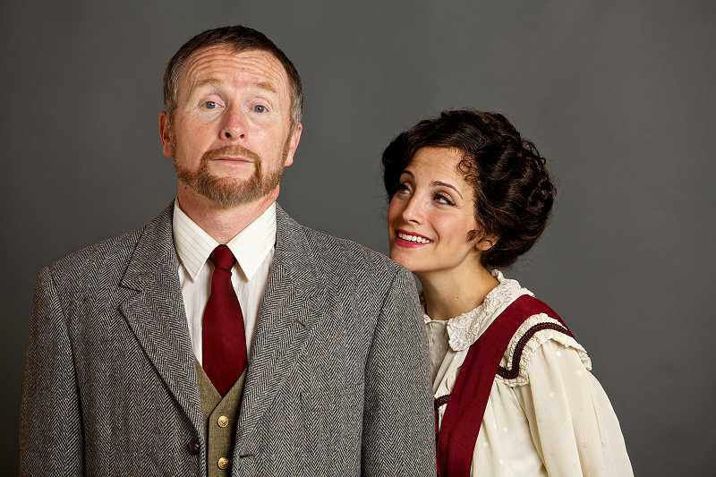 by: SUBMITTED PHOTO: CRAIG MITCHELLDYER - Jazmin Gorsline as Eliza Doolittle and Kevin Connell as Professor Higgins will delight Broadway Rose Theatre audiences as they star in 'My Fair Lady.'