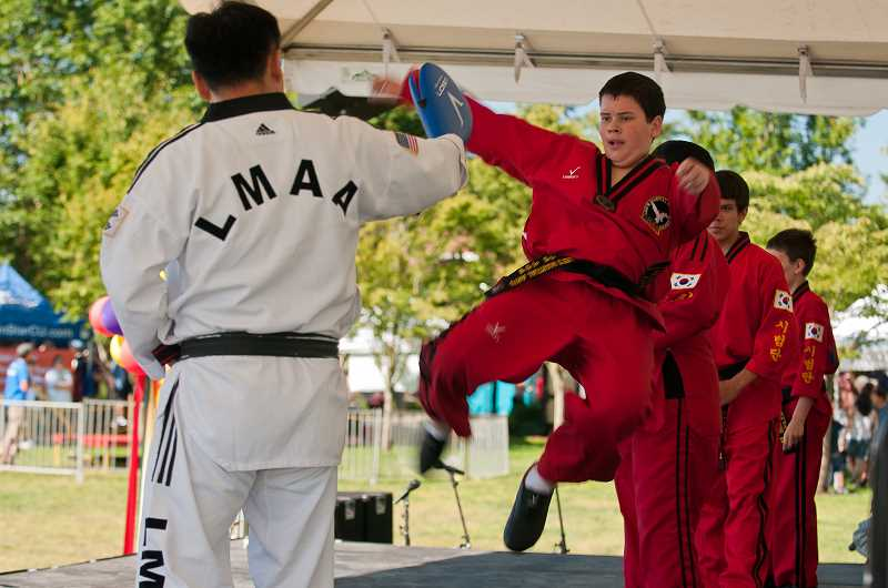 by: JOSH KULLA - Main stage entertainment includes Lee's Martial Arts Academy Demonstration Team.