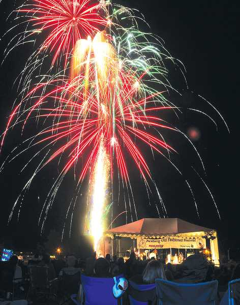 by: GARY ALLEN - Good music and fine fireworks -- The annual fireworks show at Renne Field proved to be perfect capper to the festival and was attended by thousands on a cool evening.