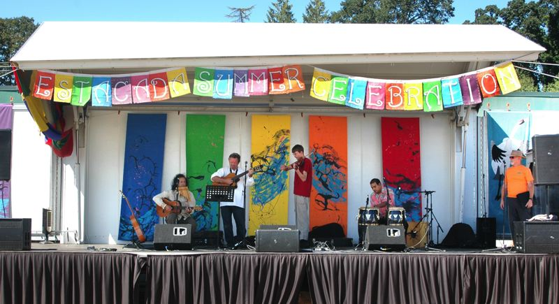 by: ISABEL GAUTSCHI - Grupo Condor serenaded the Seattle crowd from the main stage.