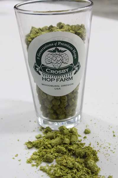 by: JEFF MCDONALD  - Hops grown on Crosbys farm and other farms around the region will be converted into pellets, which are more efficient for storage and brewing.