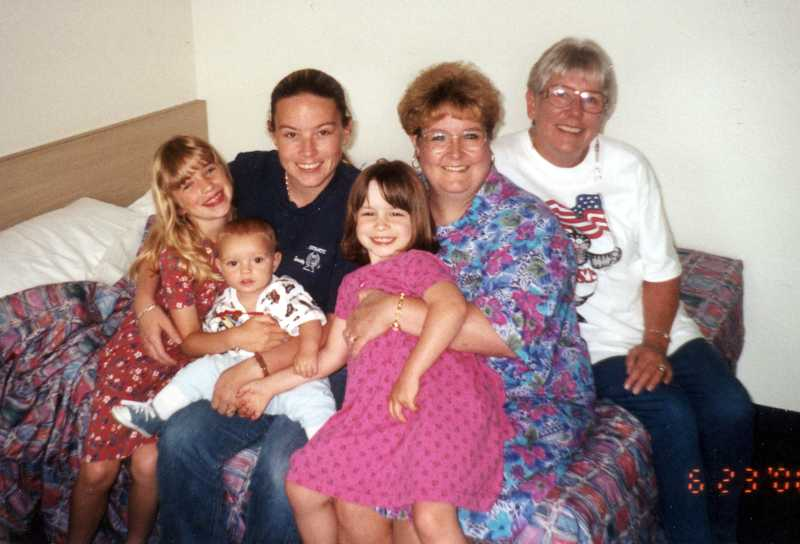 by: CONTRIBUTED PHOTO - From day one, Shannon Koester (third from left), son Bobby (second from left) and mother Sue (far right) have been involved in Marissa (center), Erica (far left) and Barbara's (second from right) life.