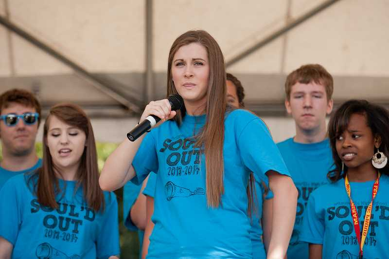 by: JOSH KULLA - Wilsonville High School's a cappella group Soul'd Out performed on the main stage at Fun in the Park.