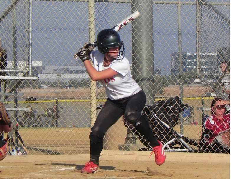 by: COURTESY OF MINDI SHELTON - Mikaela Shelton at bat.
