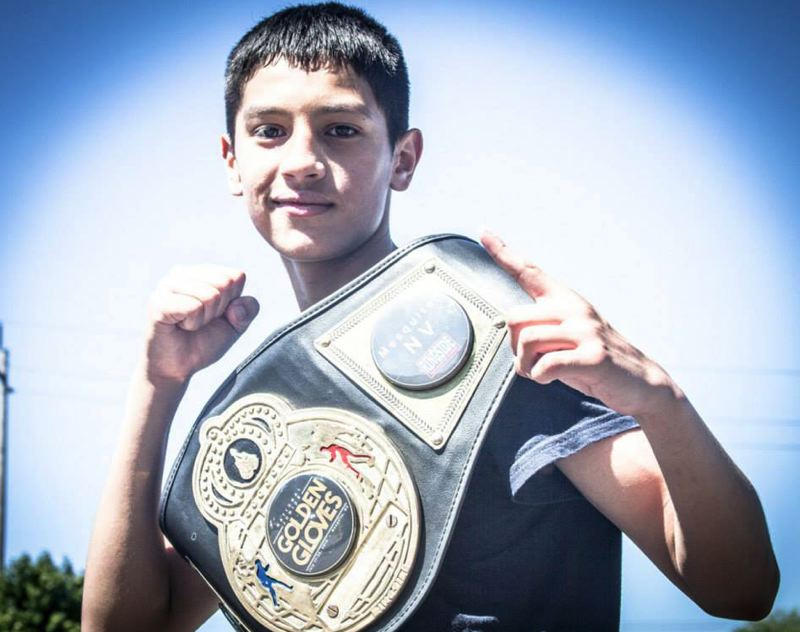 by: COURTESY PHOTO: JOCELYN TAYLOR - Alex Hughitt won the Junior Golden Gloves National Championship on July 20, becoming the Beaverton Police Activities Leagues first ever national champion.