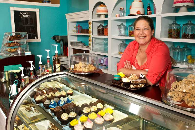 by: TIMES PHOTOS: JAIME VALDEZ - Michele R. Howard, who opened Sweet Story Bakery in Sherwood in 2011, has been providing banana bread, raspberry scones and monster cookies to Dutch Bros. Coffee stores in Sherwood, Tigard, Newberg and Lacey, Wash.