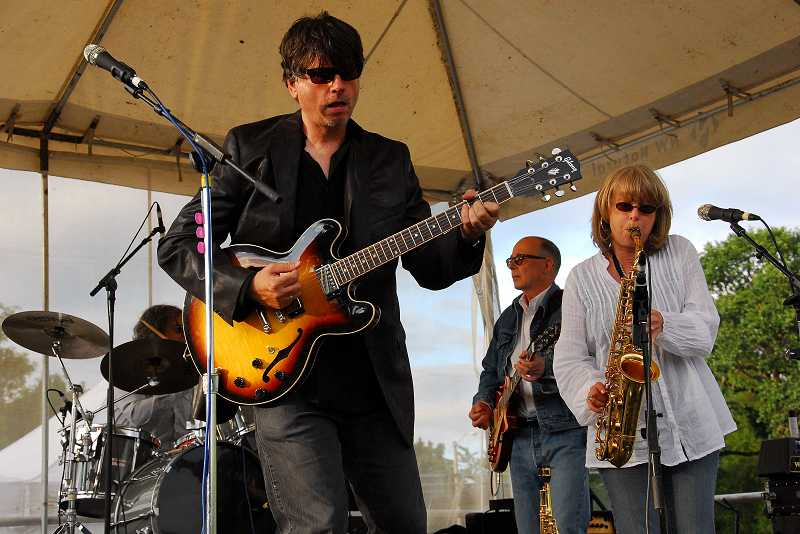 by: SUBMITTED PHOTO: BOB WAYT - Quarterflash's blend of sultry sax-infused rock and pop will get people on their feet during Saturday night's Groovin' on the Grass in Beaverton.