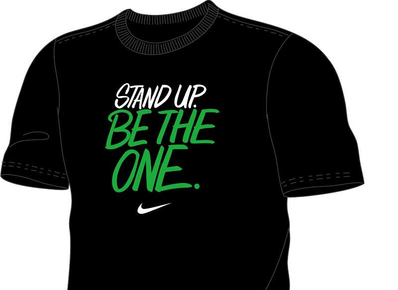by: COURTESY OF NIKE - T-shirt designed by Nike for the anti-bullying campaign at Molalla schools will be worn by leadership students and student ambassadors in support of the campaign.