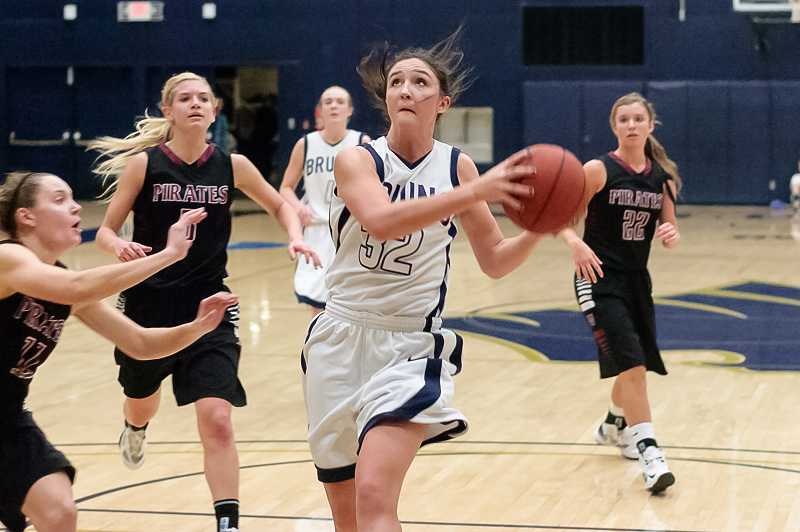 by: DAVID HANSEN / GEORGE FOX ATHLETICS - Megan Arnoldy, who graduated from Wilsonville High School in 2010, earned all-league honorable mention as a junior forward on the George Fox womens basketball team.