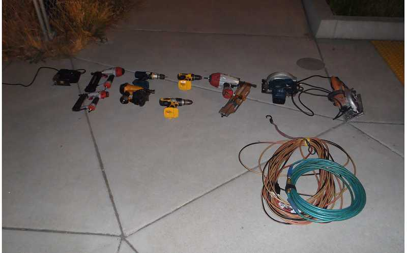 by: SHERWOOD POLICE DEPARTMENT - Here are some of the power tools recovered by Sherwood police Aug. 2.
