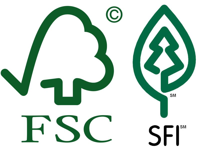 by: SUBMITTED - FSC and SFI logos