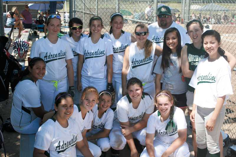 by: PHOTO COURTESY OF NEIL FORSTE - The 2013 NW Adrenaline softball team finished in fifth place or better at four tournaments over the course of the summer, including a season-best third place at the Just For Fun Tournament in Newberg in July. NW Adrenaline is led by former North Marion varsity softball coach Neil Forste and is comprised of mostly players from the North Marion junior varsity team, as well as Kelsie Henry from the Husky varsity team and several players from the surrounding area