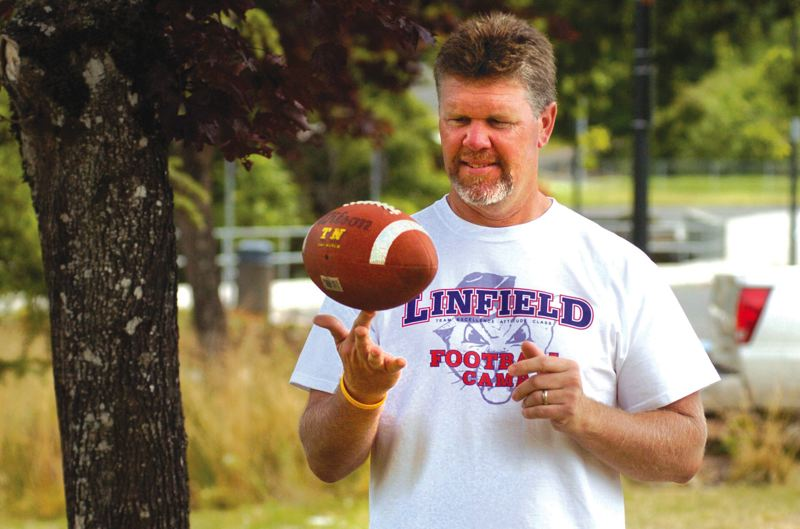 by: THE OUTLOOK: DAVID BALL - After spending 10 years at Barlow High as a baseball and football coach, Steve Stebbins finds himself as the head football coach at 4A South Umpqua this fall.